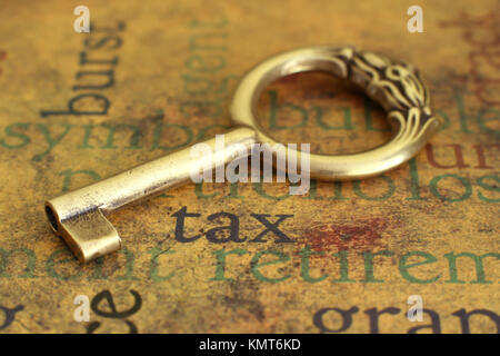 Tax and key - Stock Image