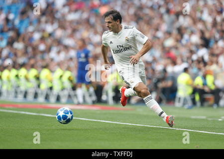 Madrid, Spain. 23rd June, 2019. Fernando Morientes (Real) Football/Soccer : Friendly 'Corazon Classic Match 2019' between Real Madrid Leyendas 5-4 Chelsea Legends at the Santiago Bernabeu Stadium in Madrid, Spain . Credit: Mutsu Kawamori/AFLO/Alamy Live News - Stock Image