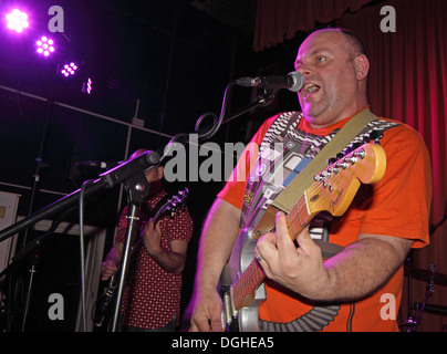 Colin Tolley of the JCB band May 2013 charity gig Winnington Rec, Cheshire, England, UK - Stock Image