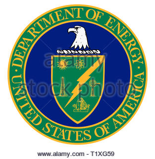 DEO United States Department of Energy icon logo - Stock Image