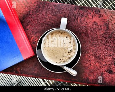 Coffee and book - Stock Image