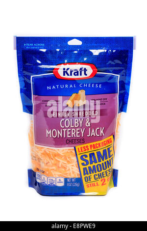 Kraft finely shredded Colby & Monterey jack cheeses - Stock Image
