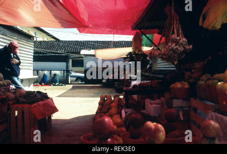 A marketplace in an indigenous Tzeltal community near Oxchuc, Chiapas State, Mexico. - Stock Image
