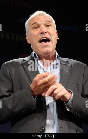 Hay Festival, Hay on Wye, Powys, Wales, UK - Thursday 30th May 2019 - Professor Chris Thomas from Aberystwyth University talking on the subject Malaria Eradication in Africa - Fact or Fiction. Photo Steven May / Alamy Live News - Stock Image
