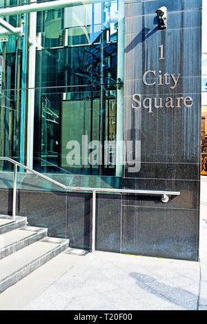No 1 City Square, Offices, Leeds, England - Stock Image