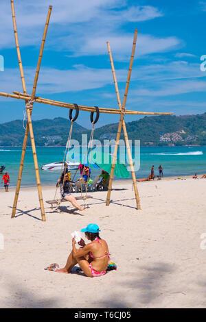 Hat Patong, beach, Patong, Phuket island, Thailand - Stock Image
