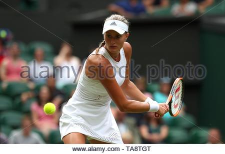 File photo dated 04-07-2018 of Kristina Mladenovic - Stock Image