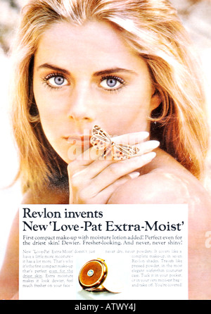 1960s Nova Magazine October 1968 Advertisement for Love-Pat Extra-Moist compact make-up FOR EDITORIAL USE ONLY - Stock Image
