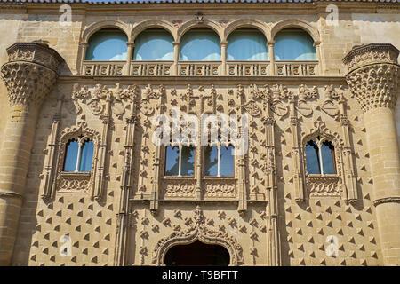 Jabalquinto Palace (Palacio de Jabalquinto). Baeza, Jaén, Andalusia, Spain. - Stock Image