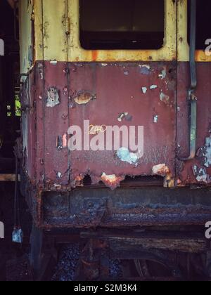 Disused train carriage. - Stock Image