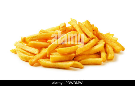 French fries isolated on a white background - Stock Image