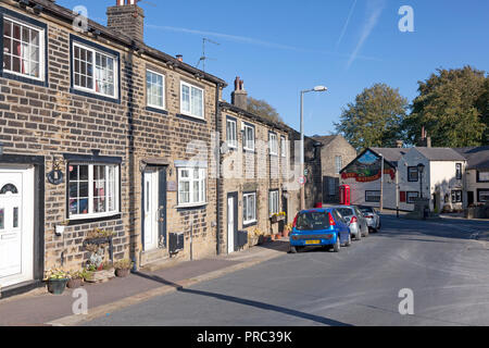 Village centre, Warley, West Yorkshire - Stock Image