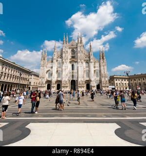 Square view of Milan cathedral in Milan, Italy. - Stock Image