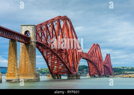 The Forth Rail bridge from South Queensferry, Edinburgh, Scotland, UK - Stock Image