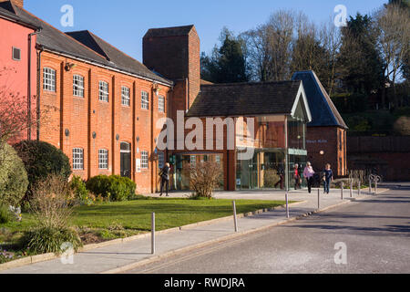 The Farnham Maltings, the museum, arts, theatre and community centre in a converted brewery in Farnham, Surrey. - Stock Image