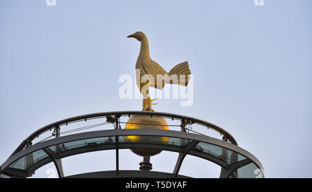 The cockerel on top of Tottenham Hotspur Stadium London. 23 April 2019 - Stock Image