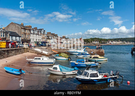 Millport harbour and seafront on the island of Great Cumbrae in Ayrshire western Scotland - Stock Image