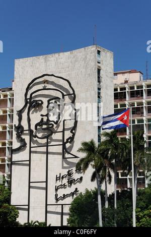 Placa de la Revolucion Square, Che Guevara , Havanna, Cuba, Caribbean - Stock Image