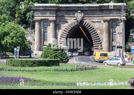 Castle Hill (Adam Clark) Tunnel, Budapest, Hungary - Stock Image