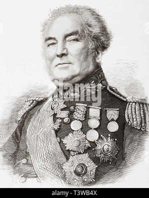 General Sir George Brown, 1790 - 1865.  British army officer.  From The Illustrated London News, published 1865. - Stock Image