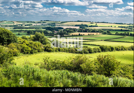 A summer afternoon at Red Hill on the Lincolnshire Wolds, the rolling hill uplands underlain by Cretaceous Chalk - Stock Image