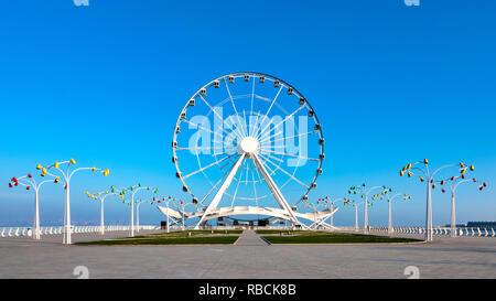 View of the Baku ferris wheel, Baku, Azerbaijan - Stock Image