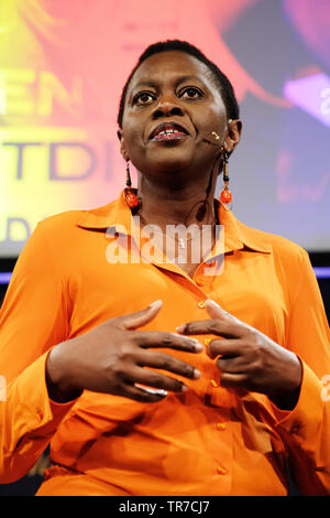 Hay Festival, Hay on Wye, Powys, Wales, UK - Thursday 30th May 2019 - Professor Faith Osier from Oxford University talking on the subject Malaria Eradication in Africa - Fact or Fiction. Photo Steven May / Alamy Live News - Stock Image