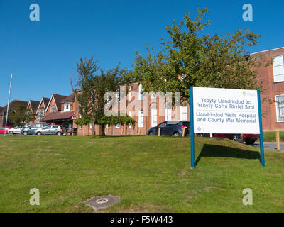 Llandrindod Wells Hospital and County War Memorial in Powys, Wales UK. - Stock Image