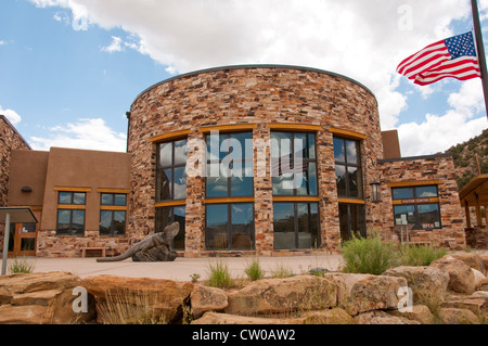 USA Utah,  Escalante Interagency Visitor Center for information on region. - Stock Image