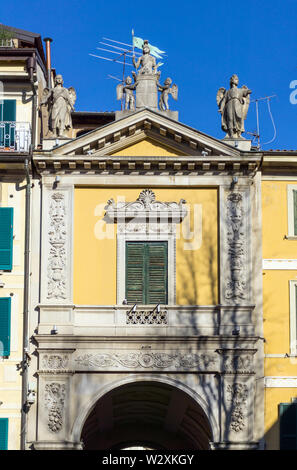 Italy, Lombardy, Varese, Piazza del Podestà, Arco Mera - Stock Image