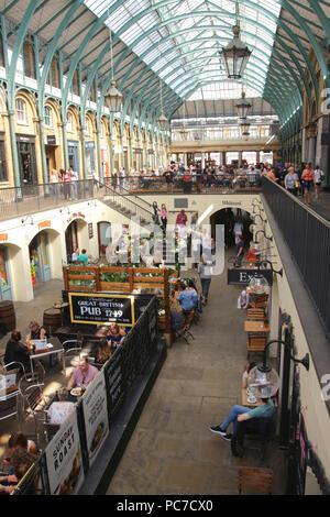 Inside Covent Garden Market London September 2017 - Stock Image