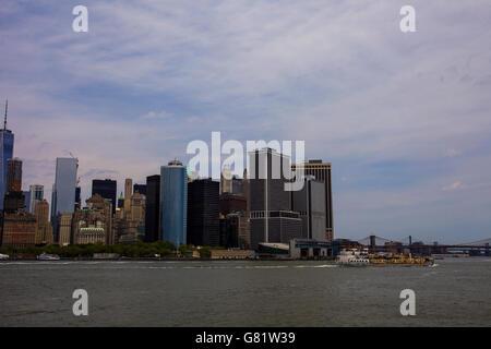 Shoreline of Manhattan in New York - Stock Image