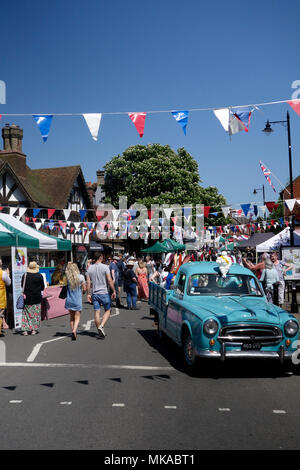 Haslemere, Surrey, UK. 7th May 2018.  Haslemere Charter Fair has run every  two years since it's reinstatement in 1984. Credit: Susan Norwood/Alamy Live News - Stock Image