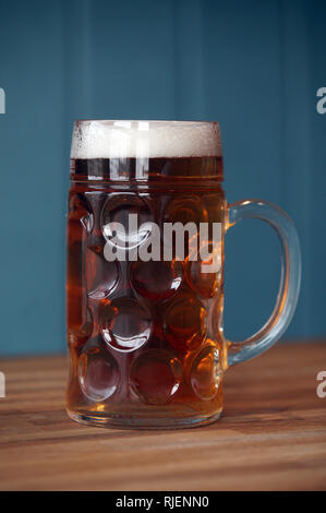 A litre of beer. 19th August 2015. - Stock Image