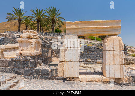 Ruins Of The Roman Byzantine City Scythopolis, Tel Beit Shean National Park, Israel - Stock Image