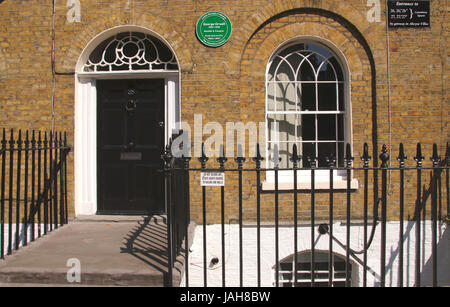 George Orwell ex residence Canonbury Square Islington London - Stock Image