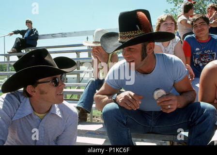 spectators at a rodeo stampede - Stock Image