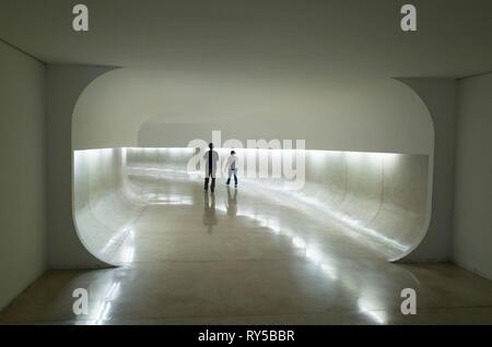 Brazil, Parana, Curitiba, The Oscar Niemeyer Museum, inaugurated in 2002 then re-inaugurated on July 8, 2003 to honor the famous architect, who participated in this project, at age 95 - Stock Image