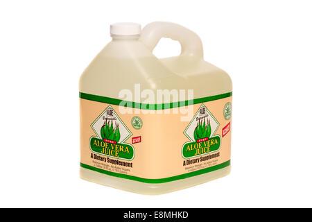 Aloe Botanicals Pure Aloe Vera Juice dietary supplement - Stock Image