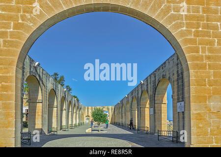 Arches At The Lower Barrakka Gardens, Valletta, Malta - Stock Image