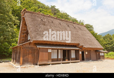 Former Asano Chuichi House (moved from Magari area, circa 19th c.) in Ogimachi gassho style village. UNESCO site - Stock Image