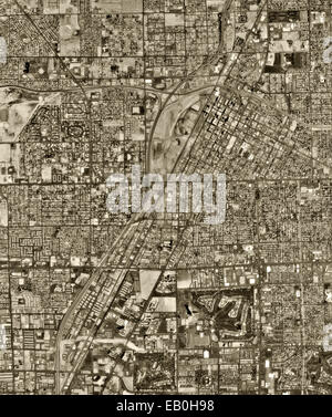 historical aerial photograph Las Vegas, Nevada, 1994 - Stock Image