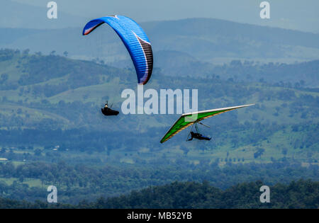 Paragliding on Mount Tamborine, Queensland, Australia - Stock Image