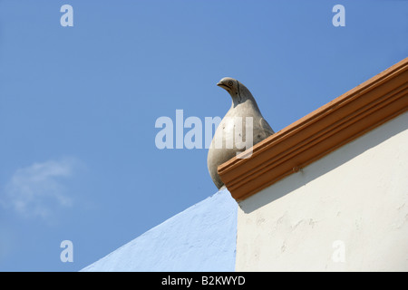 Roof Decoration on a House, Campeche, Yucatan, Mexico - Stock Image