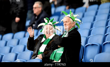 Bognor fans during the Sussex Senior Challenge Cup Final between Bognor Regis Town and Burgess Hill Town at the Amex Stadium. - Stock Image