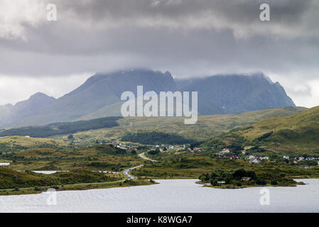 Landscape of the Lofoten Islands, Norway, Europe - Stock Image