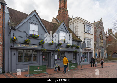 The Generals Arms public house in High Street, Chesham, Bucks, England, UK - Stock Image