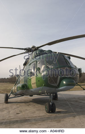 Pula air show 2005 Croatian Air Force Mi-8 MTV-1 transport helicopter - Stock Image