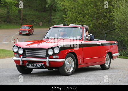 Triumph Vitesse Convertible (1965), British Marques Day, 28 April 2019, Brooklands Museum, Weybridge, Surrey, England, Great Britain, UK, Europe - Stock Image
