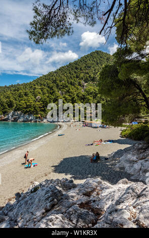 Kastani Beach, Skopelos, Northern Sporades Greece. - Stock Image